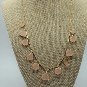 Kate Spade Light Pink Gold Tone Gem Necklace